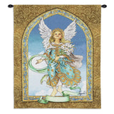 Angel Holding Flowers Art Tapestry Wall Hanging