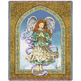 Angel in Prayer Art Tapestry Throw