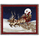 Merry Christmas To All Art Tapestry Throw