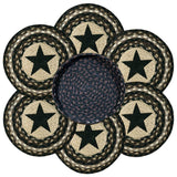 Black Star III Round Braided Jute Trivets in a Basket 7-Piece Set 56-313BS
