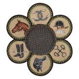 Equestrian Round Braided Jute Trivets in a Basket 7-Piece Set 56-383E