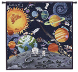 Whimsical Solar System Art Tapestry Wall Hanging
