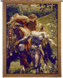 La Belle and Knight Art Tapestry Wall Hanging in 2 Sizes