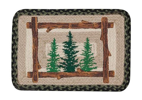 "Pine Trees 13""x19"" Oblong Jute Placemat 59-PM116TT"
