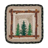 Pine Trees Oblong Jute Trivet 59-TV116TT