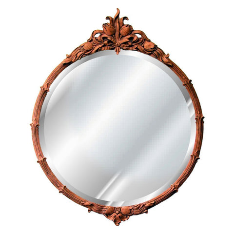 Tulip Round Wall Mirror Antique Reproduction in 60 Colors