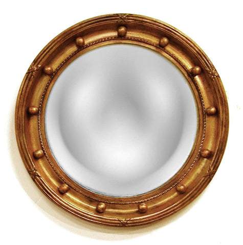 Regency Convex Round Wall Mirror in 60 Colors