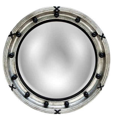 Regency Convex Round Wall Mirror, Shimmer Color Finish