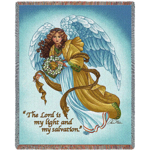 Angel with Scripture Art Tapestry Throw