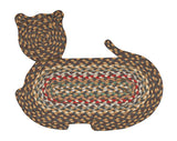 Cat Shaped Braided Jute Rug 63-C051