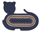 Cat Shaped Braided Jute Rug 63-C079