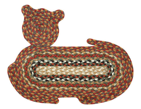 Cat Shaped Braided Jute Rug 63-C300