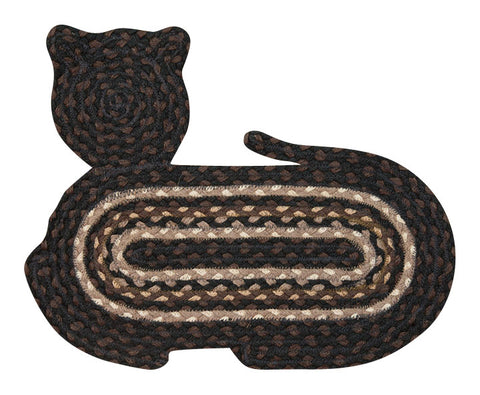 Cat Shaped Braided Jute Rug 63-C313