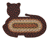 Cat Shaped Braided Jute Rug 63-C319
