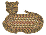 Cat Shaped Braided Jute Rug 63-C324