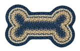 "Dog Bone Shaped Braided Jute 13""x22"" Rug 63-MD079DB"