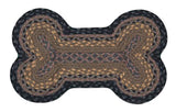 "Dog Bone Shaped Braided Jute 13""x22"" Rug 63-MD099DB"