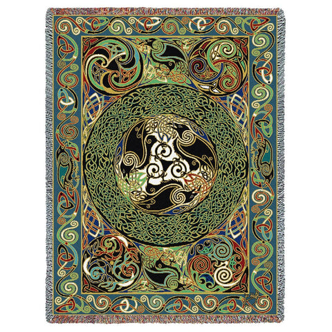 Celtic Motifs and Symbols Art Tapestry Throw