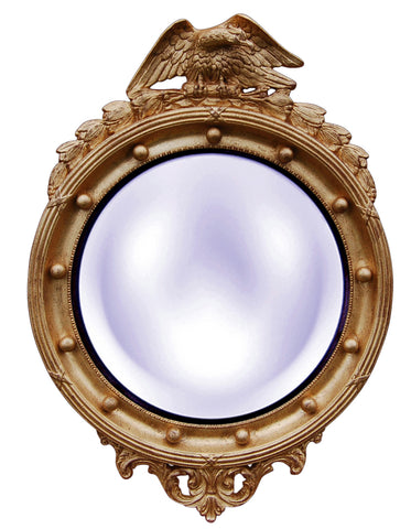 Patriotic Eagle Style 2 Convex Wall Mirror in 60 Colors