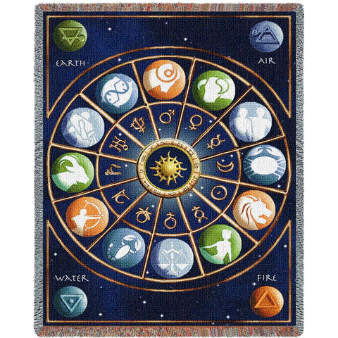 Zodiac Art Tapestry Throw