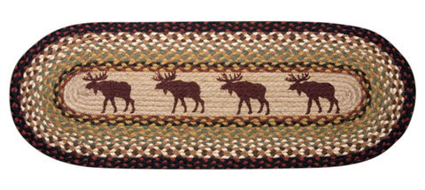 Moose Oval Braided Jute Table Runner, Available in 2 Sizes