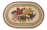 "Autumn Leaves 20""x30"" Oval Braided Jute Rug 65-024AL"