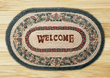 "Pinecone Welcome Oval Braided Jute 20""x30"" Rug 65-081PW"