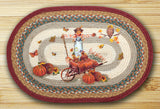 "Pumpkin Harvest Celebration Oval Braided Jute 20""x30"" Rug 65-222PC"