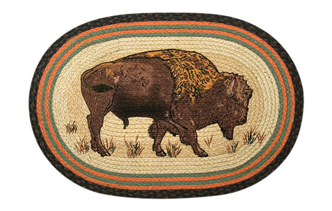 "Buffalo 20""x30"" Oval Braided Jute Rug 65-240B"