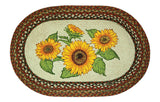 "Sunflowers 20""x30"" Oval Braided Jute Rug 65-300S"
