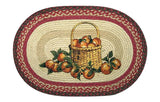 "Apple Basket Oval Braided Jute 20""x30"" Rug 65-307AB"
