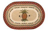 "Pineapple 20""x30"" Oval Braided Jute Rug 65-375P"