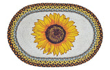 "Sunflower Bloom 20""x30"" Oval Braided Jute Rug 65-381S"