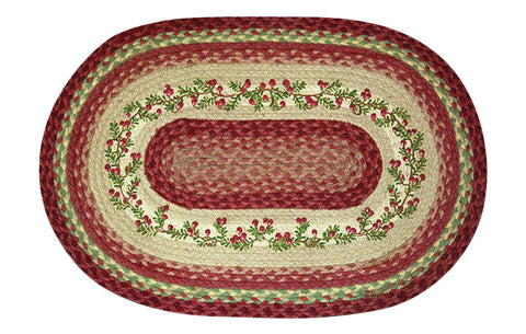 "Cranberries Oval Braided Jute 20""x30"" Rug 65-390C"