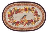 "Autumn Oriole 20""x30"" Oval Braided Jute Rug 65-431A O"
