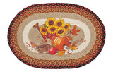 "Autumn Harvest Melody 20""x30"" Oval Braided Jute Rug 65-457HM"