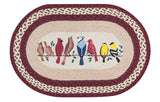 "Birds on a Branch Oval Braided Jute 20""x30"" Rug 65-501BW"