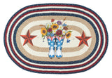 "Americana Boots 20""x30"" Oval Braided Jute Rug 65-565AB"