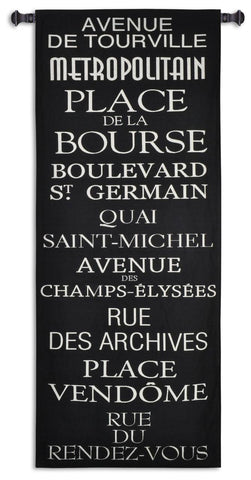 Famous Streets in Paris Art Tapestry Wall Hanging