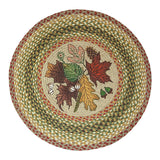 "Autumn Leaves 27"" Round Braided Jute Rug 66-024AL"