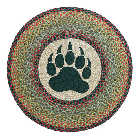 "Bear Paw 27"" Round Braided Jute Rug 66-081BP"