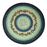 "Blueberry Vine 27"" Round Braided Jute Rug 66-312BV"