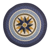 "Blue Compass 27"" Round Braided Jute Rug 66-350C"