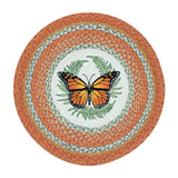 "Monarch Butterfly 27"" Round Braided Jute Rug 66-382M"