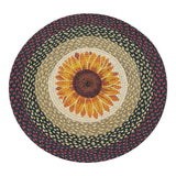 "Sunflower Bloom 27"" Round Braided Jute Rug 66-919S"