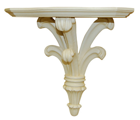 Classical Large Bracket Wall Shelf, Provincial Finish