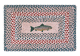"Fish 20""x30"" Rectangle Braided Jute Rug 67-009F"