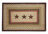 "Barn Stars 20""x30"" Rectangle Braided Jute Rug 67-019BS"