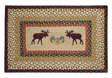 "Moose and Pinecone 20""x30"" Rectangle Braided Jute Rug 67-019MP"