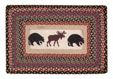 "Black Bears and Moose 20""x30"" Rectangle Braided Jute Rug 67-043BM"